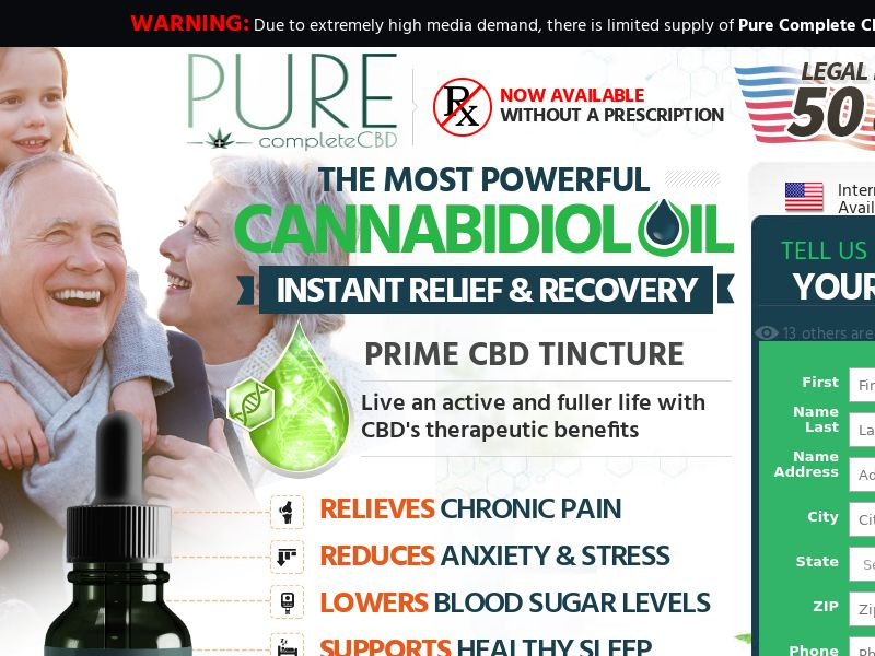 Pure Complete cbd (Trial) (US) (Display)