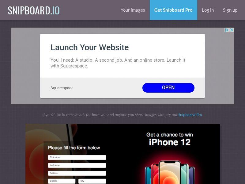 BigEntry - iPhone 12 v1 UK - CC Submit