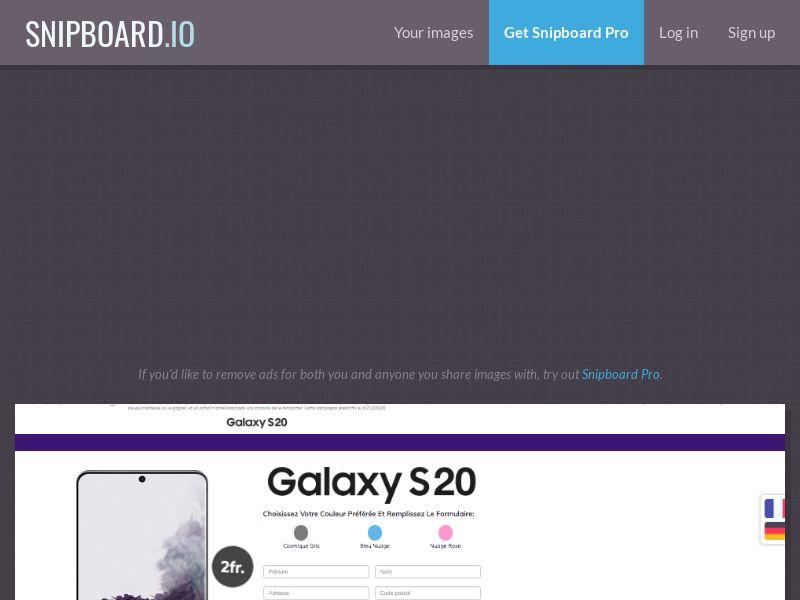 BigEntry - Samsung Galaxy S20 v1 CH - CC Submit (french/german)
