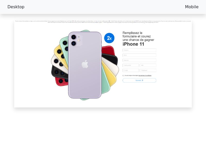 iPhone 11- CPL- cc-Submit [NO]