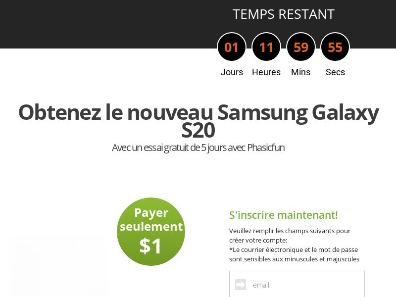 AdCenter Sweepstakes FR (Samsung Galaxy S20) - CPA, CC Submit, Multi-Geo