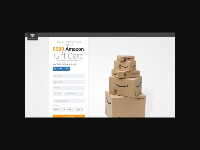 Amazon Gift Card - Consumer Survey - Full Form