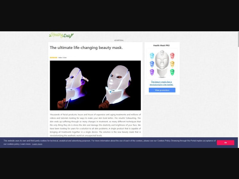 Health Mask PRO - Presell Page - Skin Care - SS - [143 GEOs]