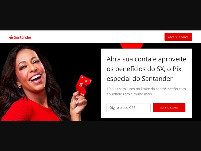 Banco Santander (SX o Pix LP) BR [BR] - SOI registration