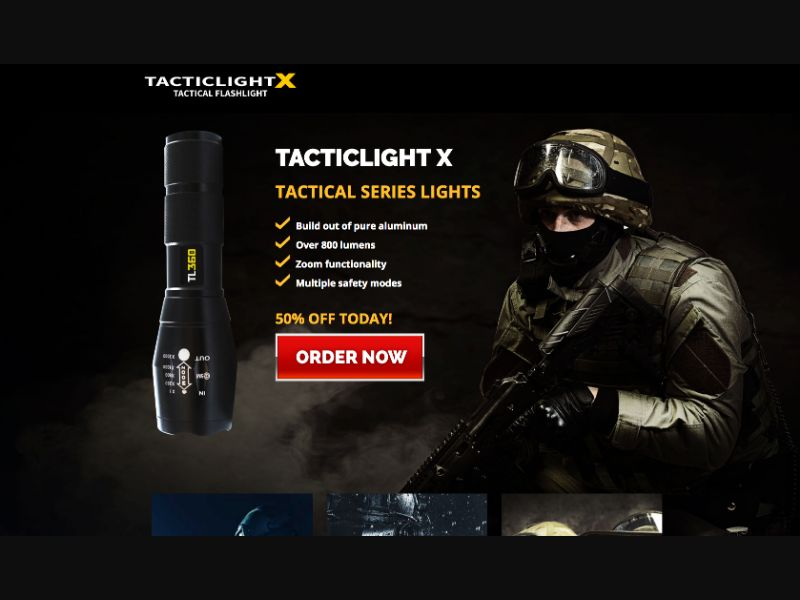 TacticalX Flashlight - CPS - WW - eCommerce - Responsive