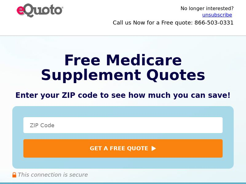 eQuoto Medicare Supplement-Pop/Linkout-Private