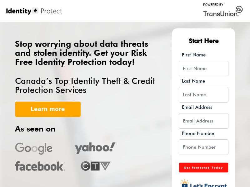 Trial - Identity Protect $1 [CA] (Native,Social,Banner,Email) - CPA