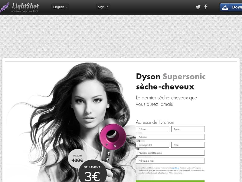 Click Dyson hairdryer - Trial - FR