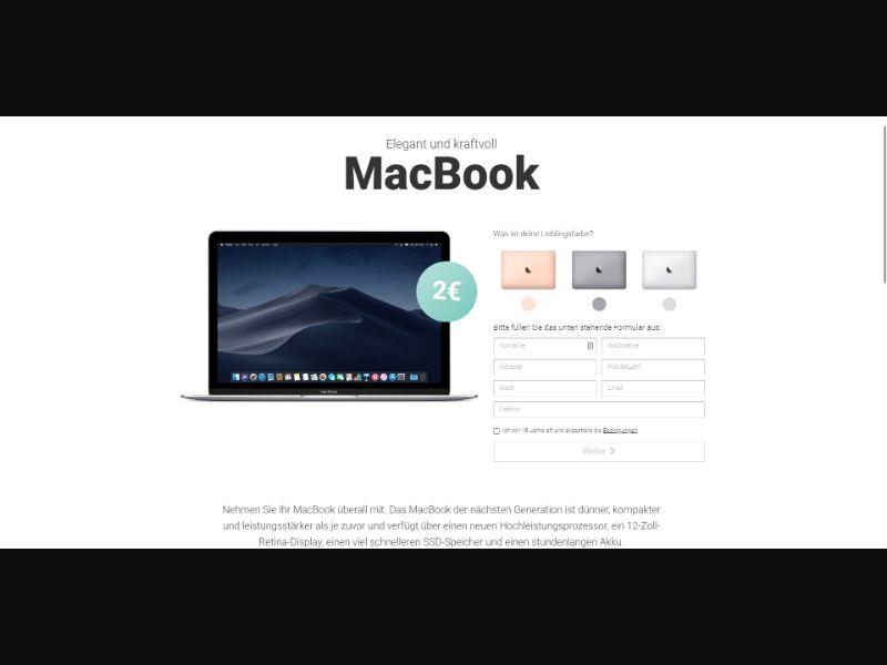 MacBook - Sweepstakes & Surveys - Trial - [DE, AT]