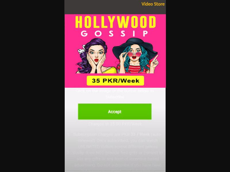PK - Hollywood Gossip (Telenor only) [PK] - 2 click