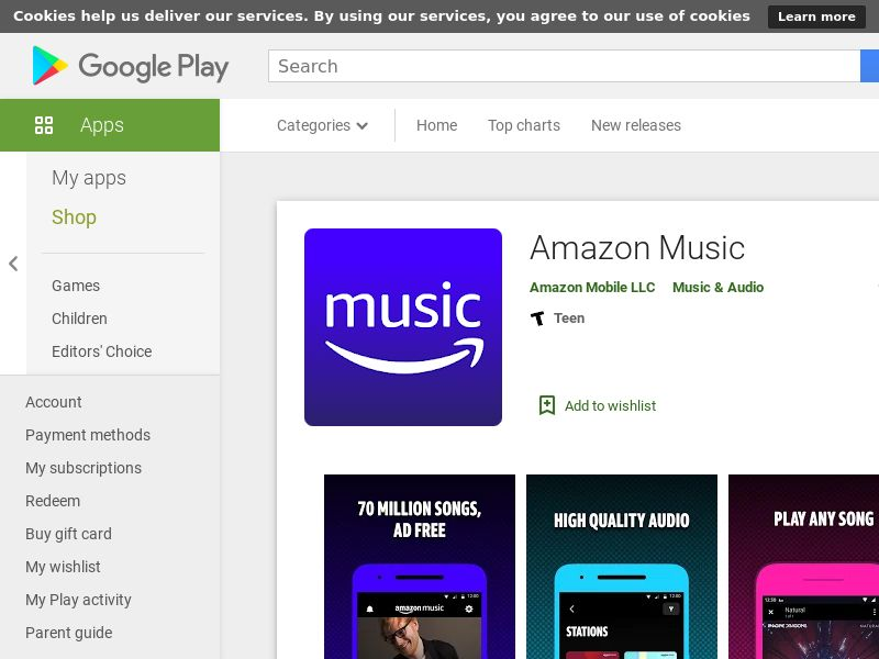 Amazon Music - Android (IN) *redirects only with correct GAID* (CPI)