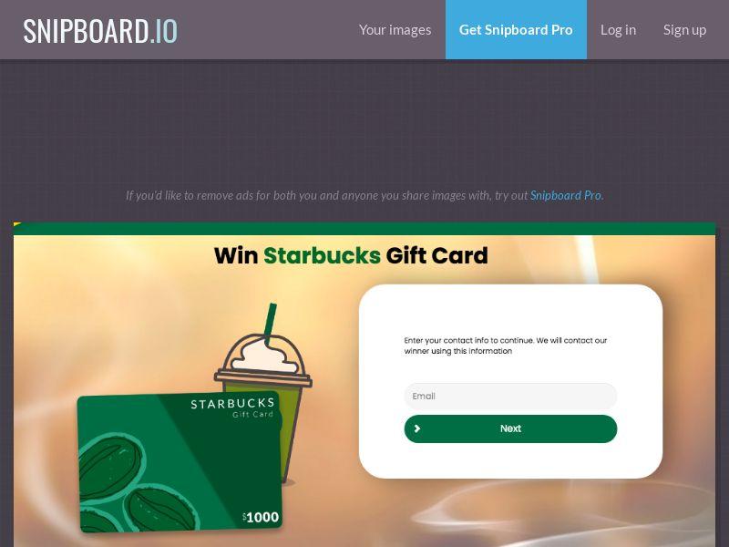 YouSweeps - Starbucks Giftcard US - SOI