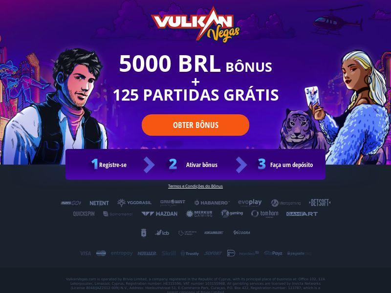 Vulkan Vegas - Welcome Bonus - FB + Apps - BR