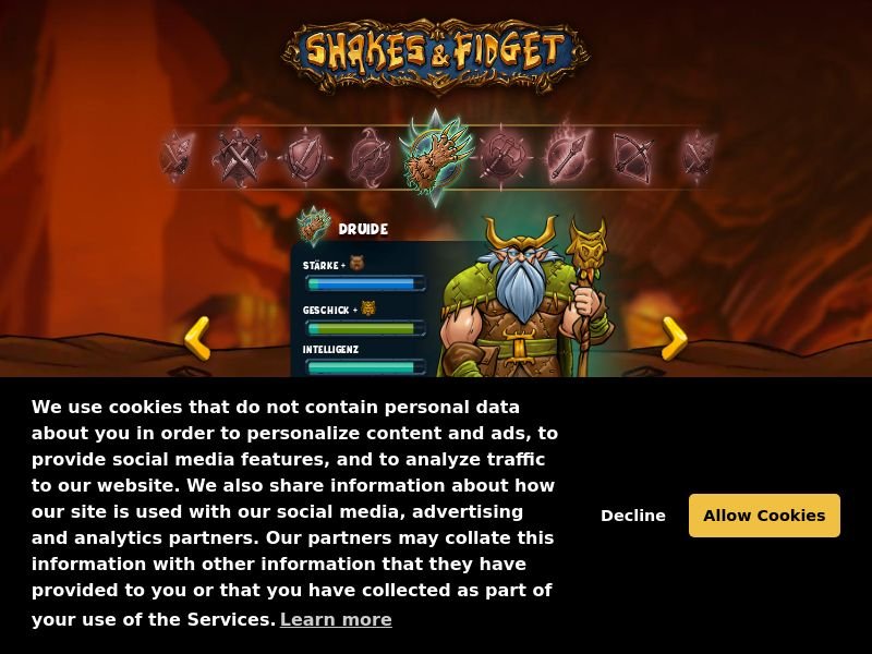 Games - Shakes & Fidget - Browser Game - SOI (DE,AT,CH)