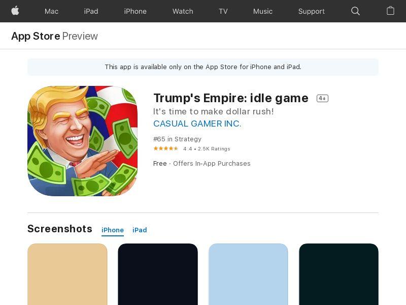 Donald's Empire - Install - US - iOS APP [INCENT]