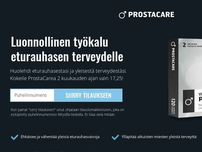 ProstaCare - For a Healthy Prostate [FI] (Email,Native,Banner,Search) - CPA {Email Proof Required}