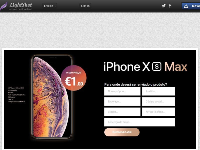 winlotsofthings iPhone Xs Max (Sweepstake) (CC Trial) - Portugal [PT]