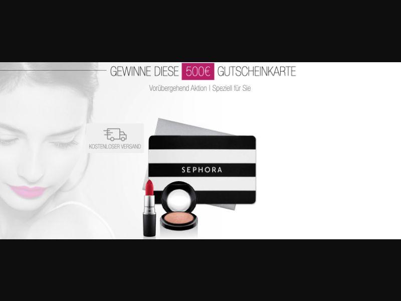 Sephora - CPL SOI - DE - Sweepstakes - Responsive