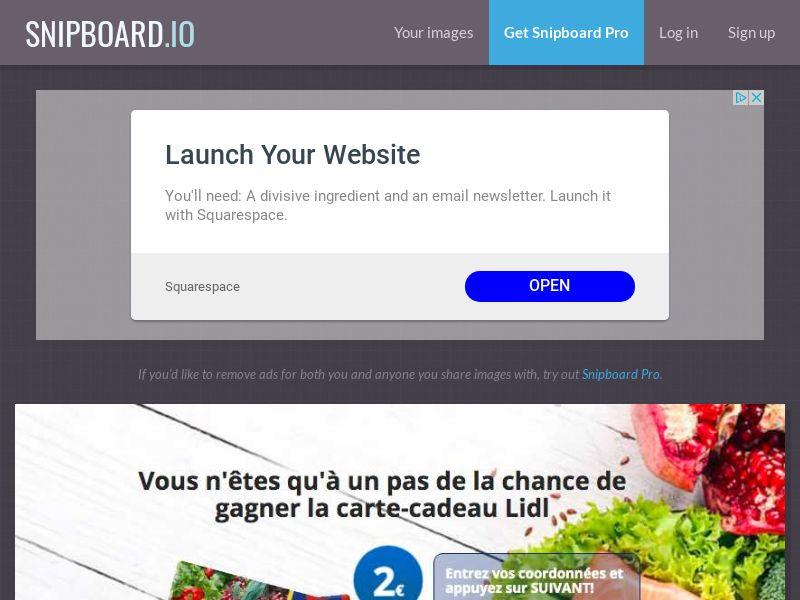BigEntry - Lidl Supermarket Giftcard v1 FR - CC Submit