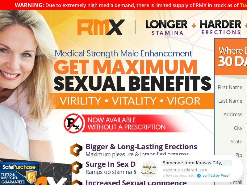 RMX Men's Health (CC Trial) - Health/Nutra - US
