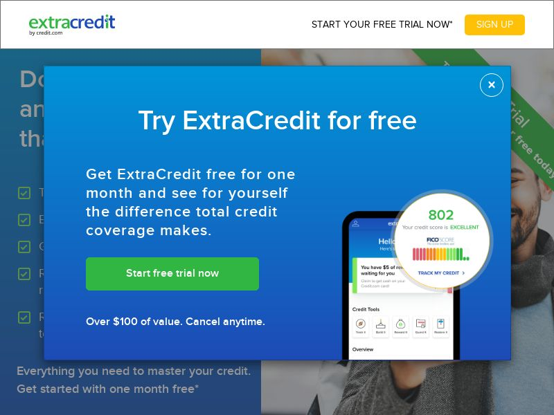 Extra Credit Monitoring (CC Submit) (Trial) (US) (SMS Allowed)