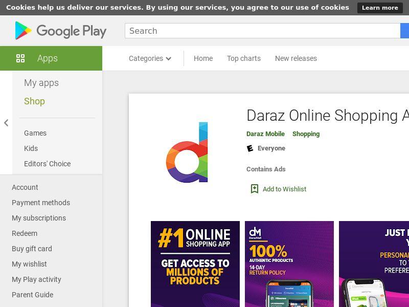 Daraz Online Shopping App - BD - CPI - Non-incent