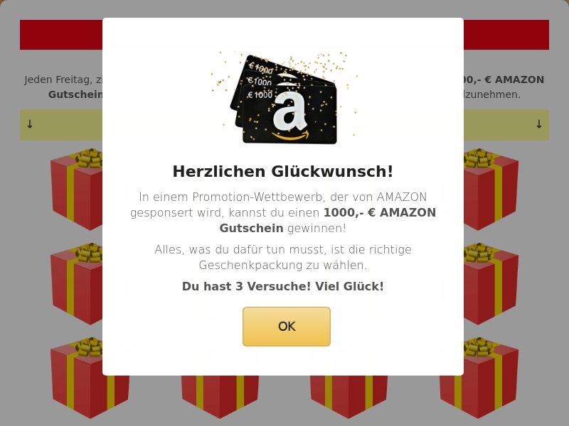 Amazon Voucher + Prelander - DE