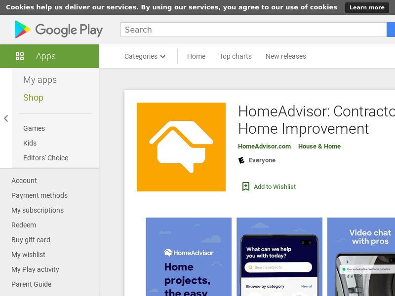 HomeAdvisor US AND GAIDAPPNAME