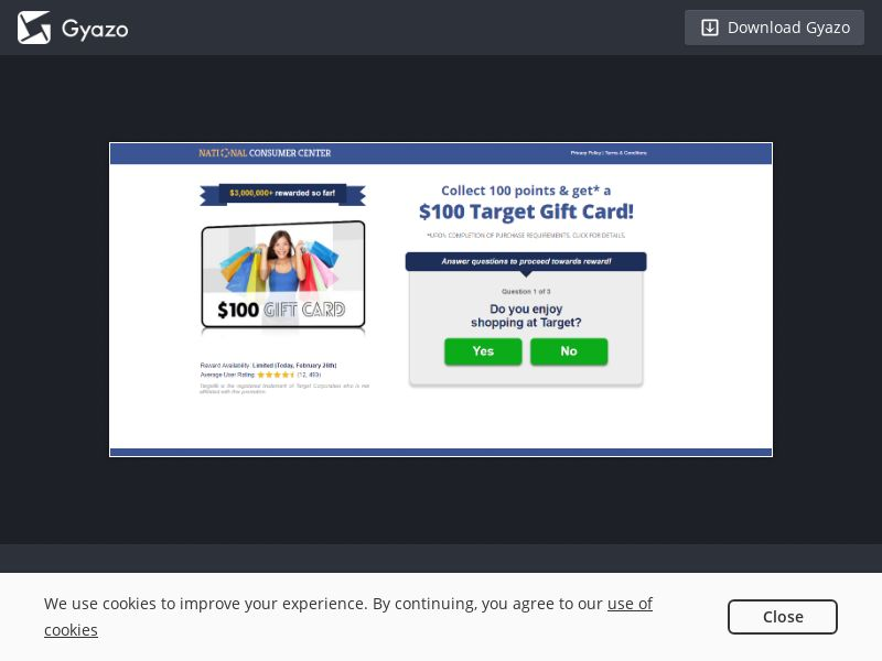 Sweepstakes a Month - $100 Target Gift Card V.2 US | Email Submit