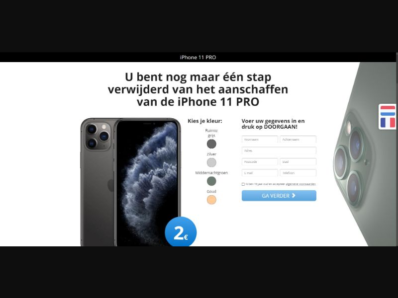 iPhone 11 Pro - Sweepstakes & Surveys - Trial - [BE]