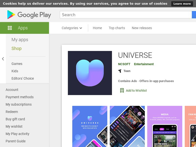 UNIVERSE Android NL