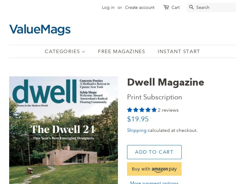 Dwell Magazine Subscription - Interiors & Exteriors | US
