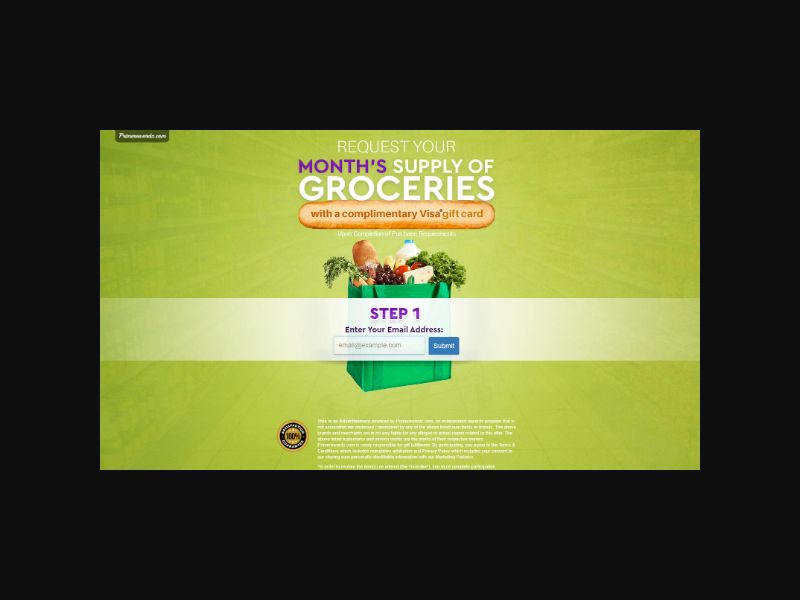 Grocery Gift Card - Email Submit