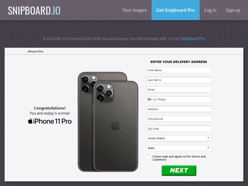 36721 - US - AbsoluteWinner - iPhone 11 Pro (Apple Style v2) - CC submit