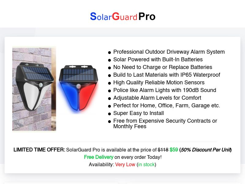 SolarGuard Pro - Best Deal Today