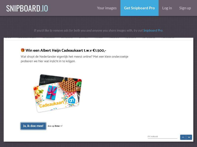 37396 - NL - IVR - Groceries - Albert Heijn