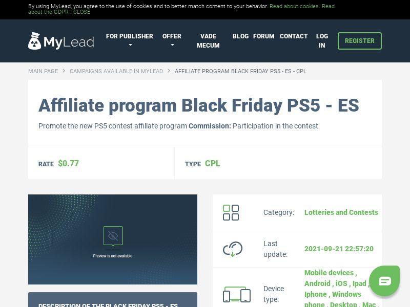 Black Friday PS5 - ES (ES), [CPL]