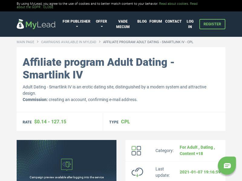 Adult Dating - Smartlink IV (MultiGeo), [CPL]