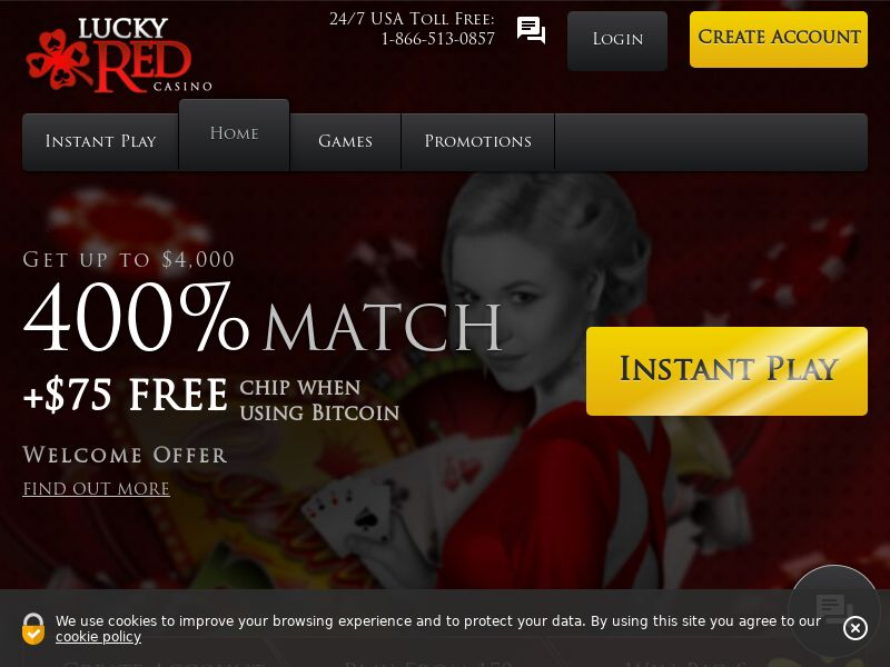 Lucky red casino CPA US