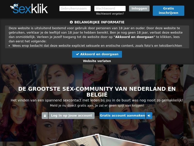 Sexklik (BE, AT, DE, CH, NL) (CPL) (Desktop) (Personal Approval)