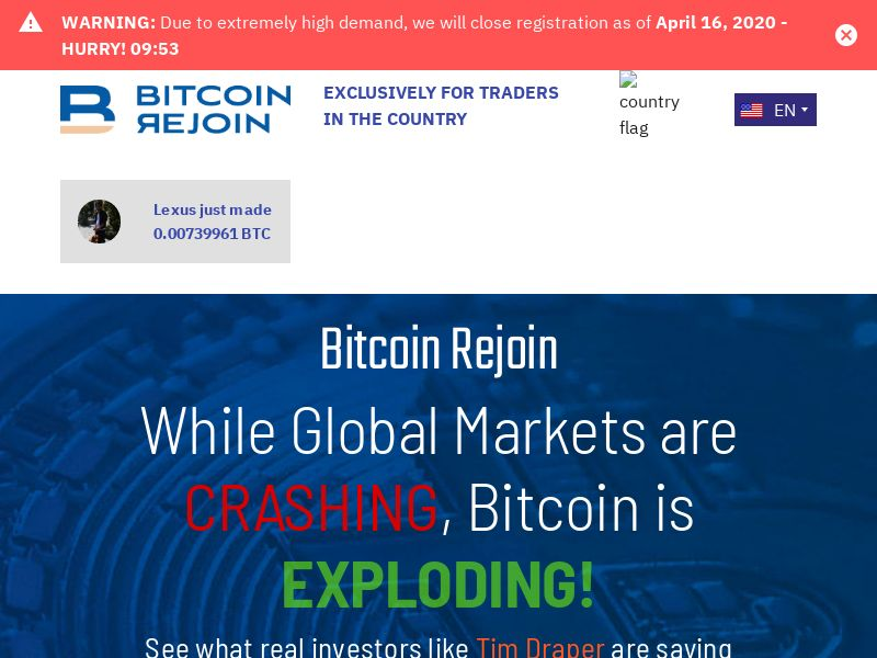 Bitcoin Rejoin - Smartlink - 57 Countries
