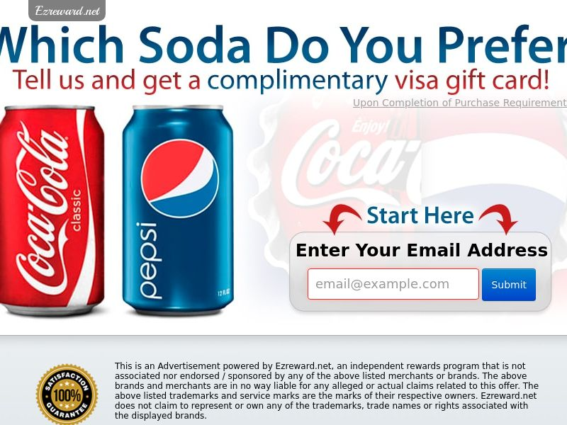 Coke vs. Pepsi - Networks - US - CPL - Incent - DIRECT