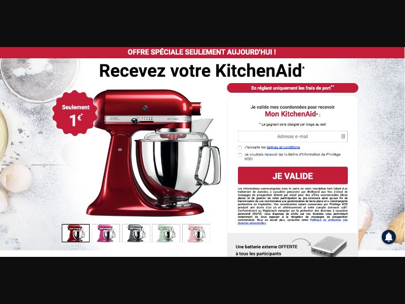 Kitchen Aid - CC Submit - BE - FR - Sweepstakes - Responsive