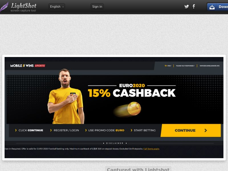 Mobile Wins Sportsbook - Euro 2020 Special (UK) (CPS) (Personal Approval)