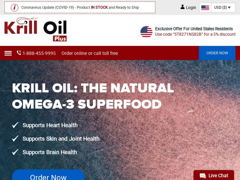 Krill Oil Plus | Natural Omega-3 Supplement With Astaxanthin