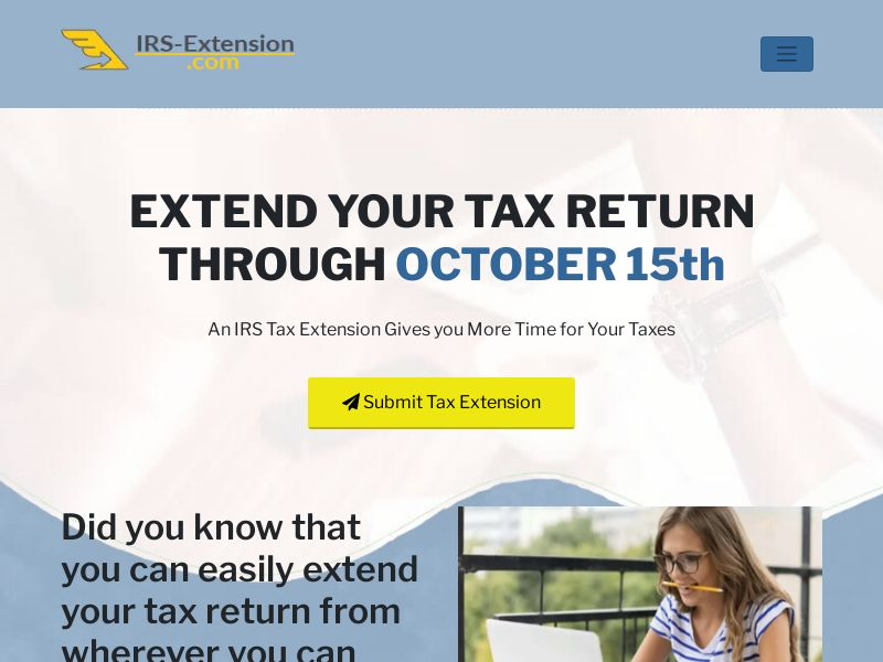 IRS Tax Extension.Com US (SOI) Non Incent - {Display traffic only}