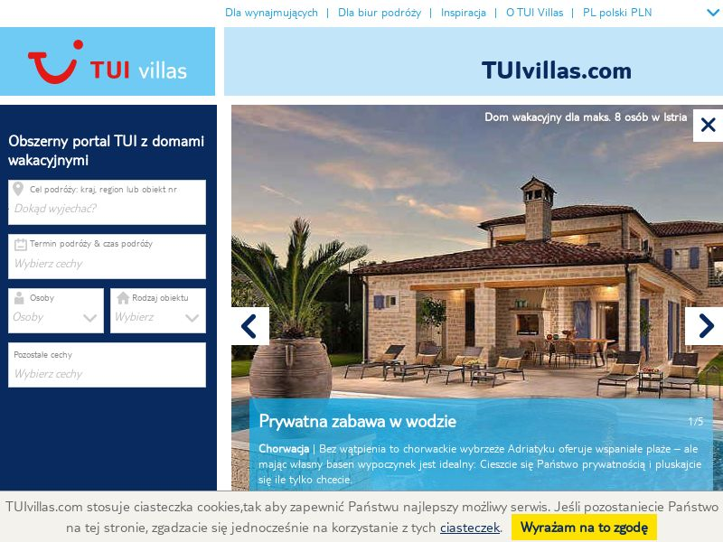 TUI VIllas - PL (PL), [CPS], Transport and Travel, Accommodation, Tours, Sell, holiday