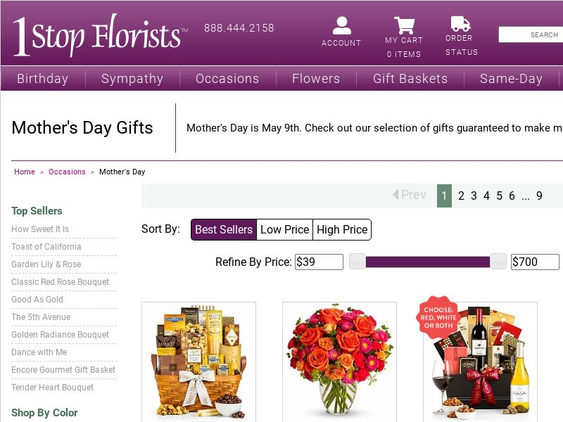 1StopFlorist - Flowers and Gifts Store - Mother Day CPA - [US]