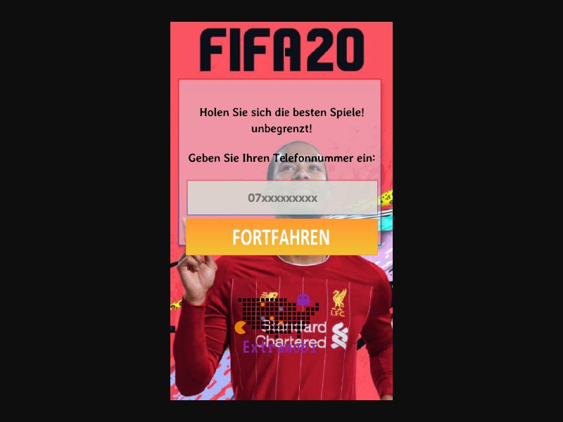 Fifa 2020 - SMS Flow - CH - Online Games - Mobile