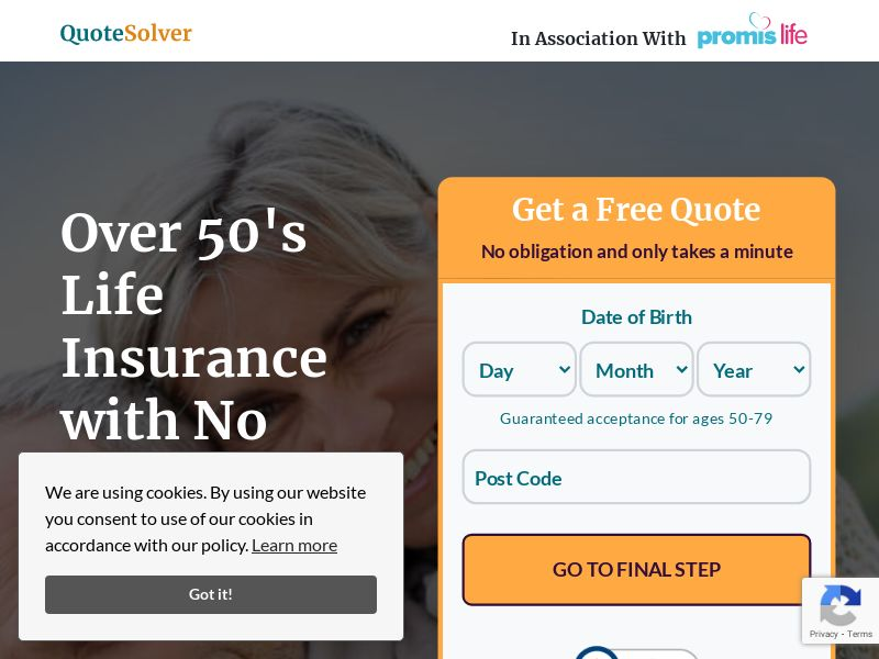 Quote Solver Life Insurance (CPL) (UK) (PRIVATE) (Creative Approval Required)(Monday - Friday 8am-4.30pm GMT)